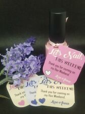 HEN PARTY, Nail Varnish favour, THANK YOU TAGS x 10 Lets Nail This Weekend