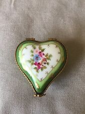 Limoges Porcelain Heart Box