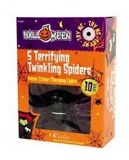 Halloween lot de 5 terrifiant scintillantes araignées led couleur changeante lumière set