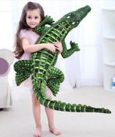 "New 79"" Giant Crocodile Plush Doll Stuffed Animal Large Pillow Toy Birthday Gift"