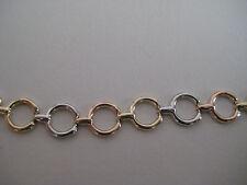 9 ct 3 couleurs or bracelet avec liens spécial Nouvel Arrivage