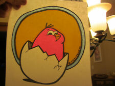 Just Hatched vintage 70s iron on t shirt transfer full size