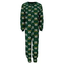 Green Bay Packers Infant Coverall NFL Football Baby Full Footed Sleeper Pajamas