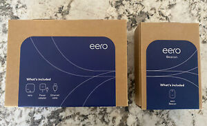 Brand New In Box Eero Pro and Beacon Kit (2nd Generation)