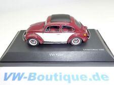 + VW Käfer 1600 Schuco 1:43 + rot/beige mit Faltdach +  VOLKSWAGEN 450386900