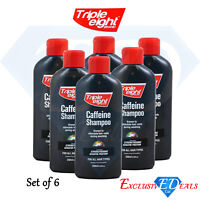 6 x Triple Eight Caffeine Shampoo Keratin Protein Hair Growth - 250ml Bottle