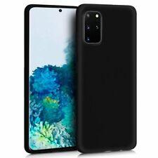Funda carcasa Samsung Galaxy S20+ Plus Silicona TPU Goma Negra Mate Suave Forro