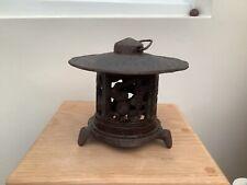 Japanese cast iron Pagoda Lantern