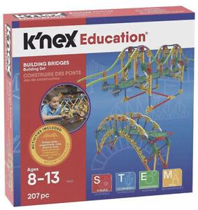 K'nex Building Bridges Model Construction Set 207 Pieces 79433 Educational Toy