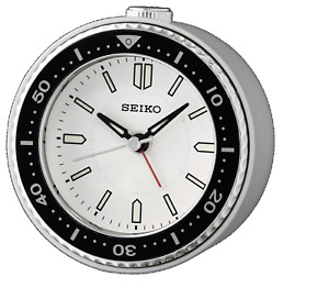 *BRAND NEW* Seiko Mai White Alarm Desk Clock QHE184JLH