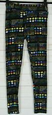 Lularoe Leggings Black with Multi Color Spots Size One Size New