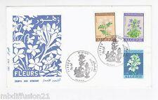 1972 - FDC 1°JOUR/ALGERIE - FLEURS.JASMIN.VIOLETTE.POLYAUTHES - TIMBRE Yt.551/3