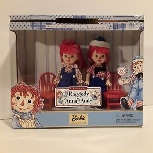 1999 Barbie Collectible Tommy & Kelly Dolls as Classic Raggedy Ann & Andy New