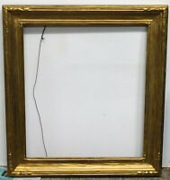 Vintage newcomb macklin style carved gold leaf frame fits 16 x 18 painting