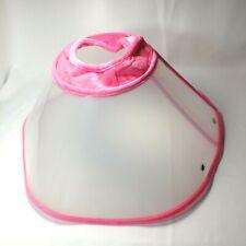 Reusable Adjustable Collar pet Cone Pet Recovery cat dog pink large