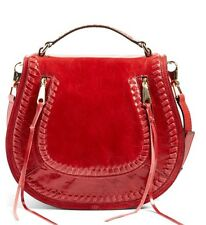 New!  Rebecca Minkoff Vanity Saddle Bag Crossbody Deep Red $325