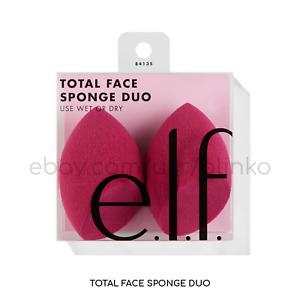 E.L.F. 84135 Total Face Sponge Duo 2 Sponges WET or DRY Full Coverage Makeup