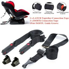 Car Safety Baby Seat 3 Point ISOFIX Latch Belt Strap Fixed Connectors Universal