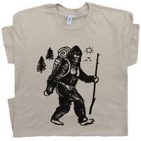 Bigfoot Camping T Shirt Hiker Tee Vintage Yellowstone Yosemite Men National Park