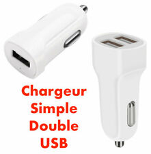 Chargeur Allume Cigare Compact Double Universel Recharge Voiture iPhone Samsung