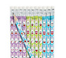Pack of 12 - Easter Bunny Emoji Pencils - Party Loot Bag Fillers