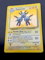 MAGNETON 9/102 ORIGINAL BASE SET 1999 POKEMON TCG HOLO FOIL RARE CARD RARE