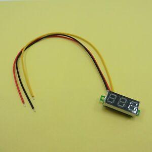 "0.28"" 12V Three Wire Mini Digital Voltage Meter 0-100V Yellow LED 0.28inch"
