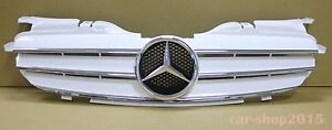 ABS Accesorios de Coche DENGD Parrilla modificada de Malla de Parachoques Delantero de Coche para Mercedes Benz R170 SLK Class W170 1998 1999 2000 2001 2002 2003 2004 1 unids//Set