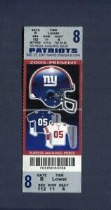 Original 2007 Perfect Regular Season Game ticket 16-0 Patriots Giants Tom Brady