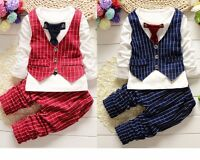 2pcs baby boys clothes top+pants  baby boys party tuxedo Outfits tie gentleman
