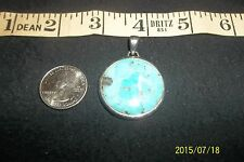 Drop Sterling 925 Charm Pendant Barse Turquoise Lapis Abstract Large