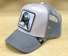 Goorin Bros Dam it Beaver Animal Farm Collection Trucker Hat Cap Pink/Grey