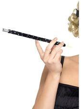 Long Black Sequin Cigarette Holder 20s Flapper Gangster Moll Ladies Fancy Dress
