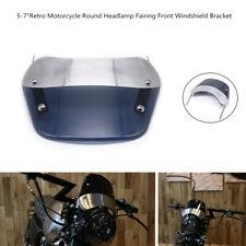 5-7 Inch Retro Motorcycle Modify Round Headlamp Fairing Front Windshield Bracket