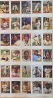 1991 Negro Leagues Series 1 Postcard Uncut Sheet (30) Set Signed By Ron Lewis