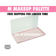 DIY Empty Magnetic Makeup Palette Pink MS Strong Plastic Fits 18 Eyeshadows