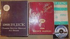 1968 Buick ORIG! Service & Owners Manual 4pc SET_Gran Sport 350 400_Skylark_Spcl