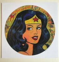"Wonder Woman 12x12"" signed print By Frank Forte Pop Surrealism DC Comics Pop Art"