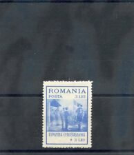 ROMANIA Sc B28(MI 415)**F-VF NH 1931 3L+3L ULTRAMARINE $65