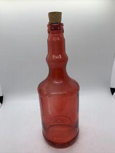 Decorative Pink Glass Bottle