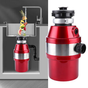 220V Kitchen Food Waste Processor Disposer Garbage Disposal Crusher Machine New