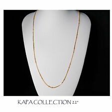 Gold Chain Men Womens 22 inch 18ct Gold Plated Necklace 2mm thick Curb Chain  A4