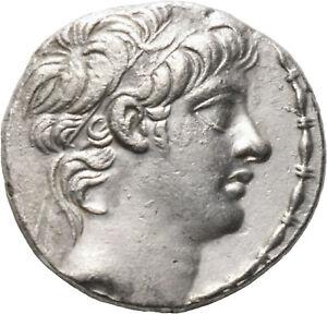 DIONYSOS Seleukiden Antiochos X. AR-Tetradrachme  #MA 0589