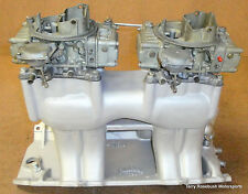 Edelbrock TR2X BBC-Rect Port Tunnel Ram, w/2 Holley 0-1850 Carbs, Linkage