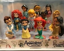 Disney ANIMATORS COLLECTION MINI DOLL Set of 11 New Deluxe Figurine Princess