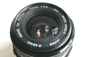 OLYMPUS fit 28mm/f2.8 Vivitar MC wide-angle lens + skylight filter