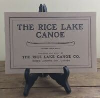 1989 Reprint Of 1916-1918 Rice Lake Canoe Catalog Book Brochure 16 Pages Ontario
