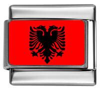 9mm Classic Size Italian Charms E11  Charm Red Enamel Love Heart