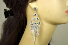 Bridal Bridesmaid Wedding Prom Party Crystal Clear New Chandelier Earring