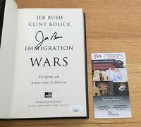Jeb Bush Governor 2016 President Signed Autograph Immigration Wars Book JSA COA